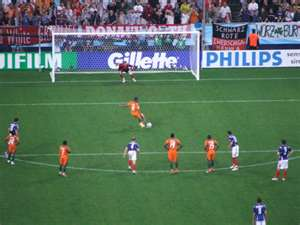 A dramatic moment in football: The penalty kick