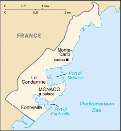 Map location of Monaco