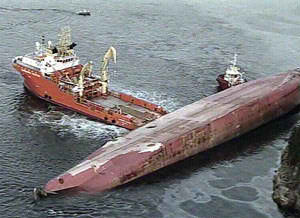 2 KILLED IN SHIP DISASTER OSLO: Sixteen members of a mainly Filipino crew were reported missing on Tuesday after a cargo ship capsized off southwestern Norway, killing at least two seamen, rescuers said. Reuters (Jan 19, 2011)