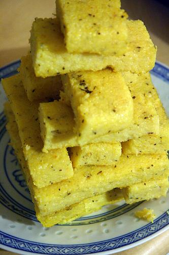 squares of polenta