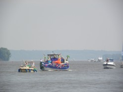 Two boats in the water parade