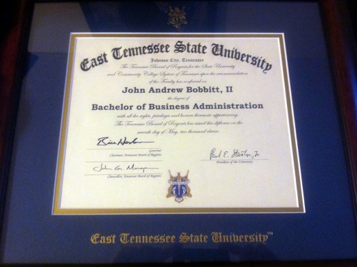 My diploma finally came in today! So exciting