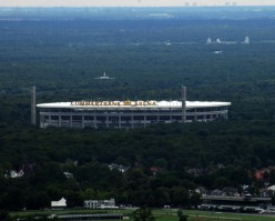 View of Commerzbank Arena from the Maintower in Frankfurt