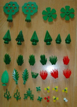 Lego Trees and Plants