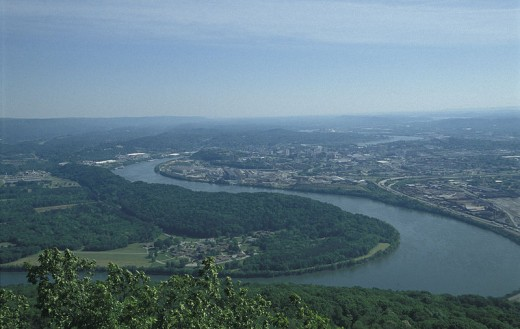 Chattanooga, seen from Lookout Mountain