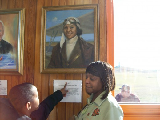 A source of pride for our family to be related to the first black female airplane pilot that is featured in the Wright Brothers Museum.