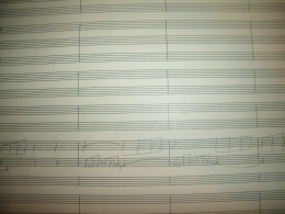 Page from my Symphony No. 1