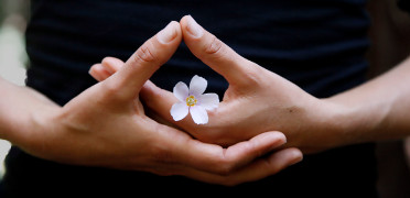 Dhyana mudra - heart calming mudra