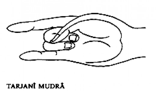Tarjani mudra helps cast the energy of bad luck