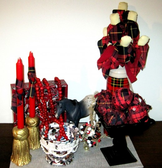 Plaid Decor Display