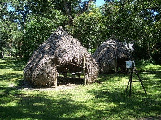 Timucua Nation dwellings on display in Ocala at the Marion County Historical Museum.
