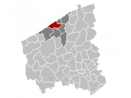 Map location of Ostend