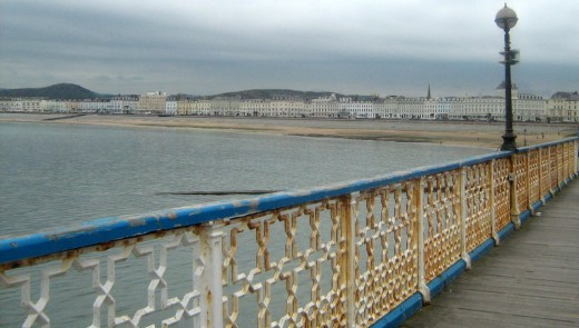 Looking back to Llandudno Beach from the Pier