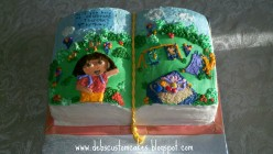 How to Make a Story Book Cake