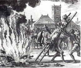 Torture of a witch, Anne Hendricks, in Amsterdam in 1571