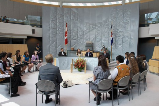 The Royal couple attend a session of Youth Parliament at the Legislative Assembly on July 5, 2011 in Yellowknife, Northwest Territories