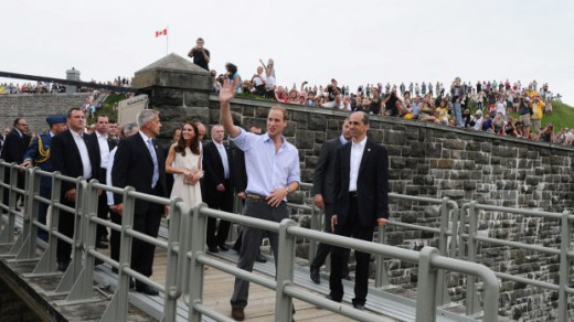 The Duke and Duchess leave Fort Levis in Levis, Quebec