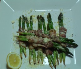 Mother's Day 2010 - Asparagus Wrapped in Bacon