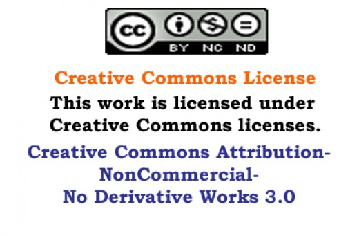 What this means is that I own this document, and you are free ti enjoy it. But, if you want to use it commercially, you must have my permission, in writing.
