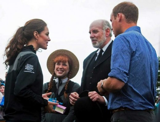 The Duke and Duchess converse with Anne of Green Gables actress Tess Benger