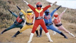 "A screenshot from the show ""Super Sentai,"" from which our show ""Power Rangers"" was based upon."
