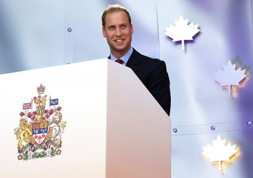 The Duke of Cambridge addresses the crowd on Parliament Hill during Canada Day celebrations in Ottawa