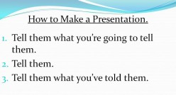 Present Like A Pro.  What Not to Do When Giving a Talk.