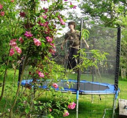 Kids love our trampoline