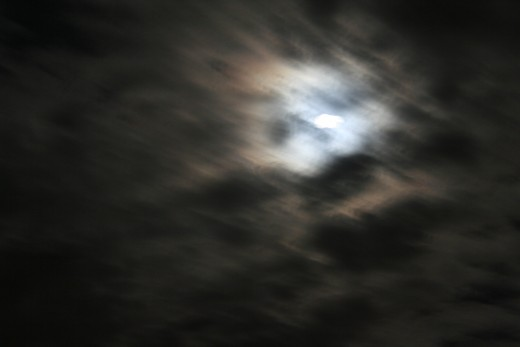 silvery moonlight ripe for howling at from anywhere