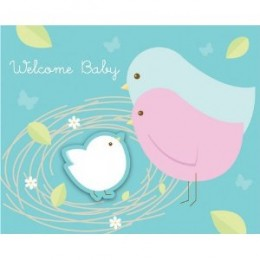 Nesting Birds 'Welcome Baby' Baby Shower Invitations