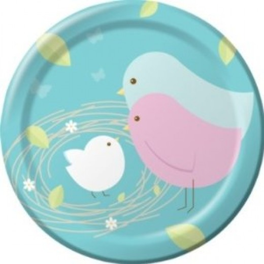 Nesting Birds Lunch/Dinner Plates