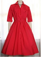 Pretty Red Shirtdress
