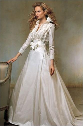 Bridal Gown Shirt Dress