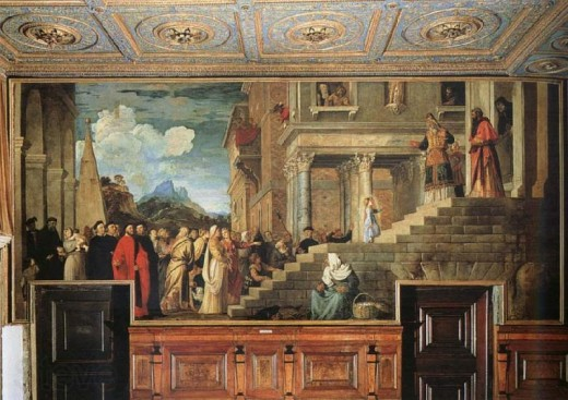Titian: la Presentation du Vierge au Temple