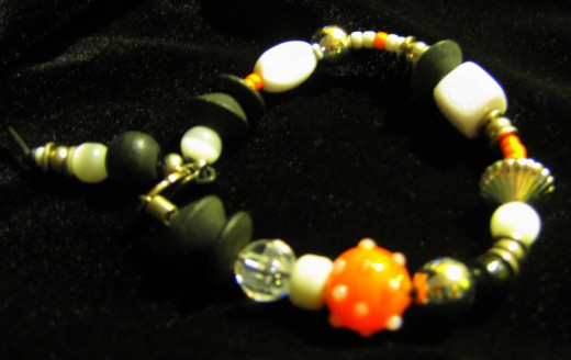 Hand-crafted Halloween Bracelet