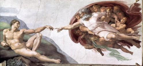 """The Creation of Adam"" - by Michelangelo (1511) Sistine Chapel - Vatican City"