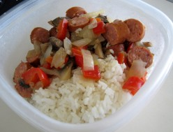 Stir Fry: Andouille Sausage With Rice and Mixed Vegetables