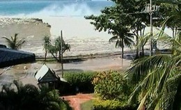 Seaside view from the Galle Face Hotel, Colombo, before the tsunami