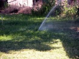 In-ground sprinklers can be operated manually.
