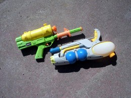 These look more like some kind of alien ray gun than the old-style squirt guns