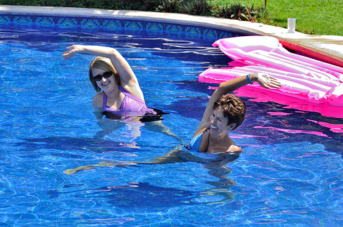 People of any age can do water aerobics!