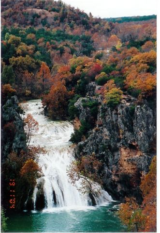 Turner Falls in autumn.