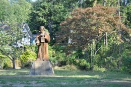This statue in Sam Benn Park (Aberdeen, Washington) is by Louis Benanto, Jr., who I believe is mainly a chainsaw sculptor. Dated 1974.