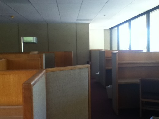 Cubicles on the second floor of Green library.