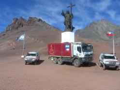 Rally Dakar Argentina-Chile-Argentina. Cristo Redentor, Andes mountains