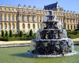 A fountain at the Palace of Versailles