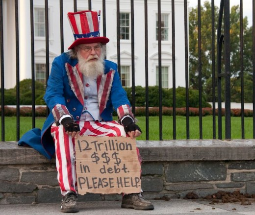 We have all seen people, perhaps dozens a day begging for spare change. Now it looks like Uncle Sam is in the same position.