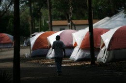 This tent city in an undisclosed region in the US comes by way of a mirror site in Ireland. Our own media tends to turn a blind eye.