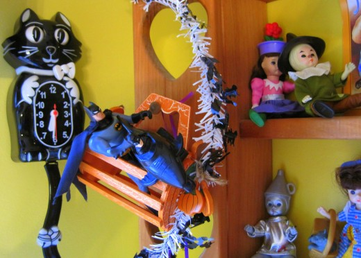 Wooden Kitchen Shelf Halloween Style