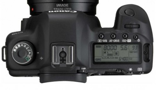 Top View of 5D Mark II